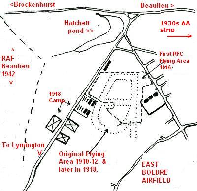 East Boldre Airfield map
