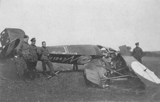 Avro 504 Plane Crash Real Photo Postcard, B553 | eBay